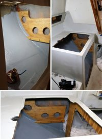Galley Sink Base:  Part 1 Removal and Rebuild