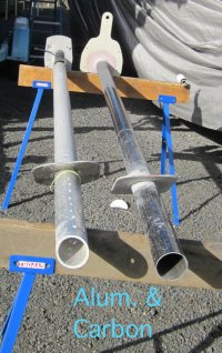 Alum & finished Carbon poles .JPG