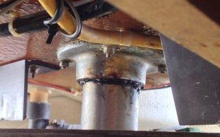 detail top rudder bearing under deck.JPG